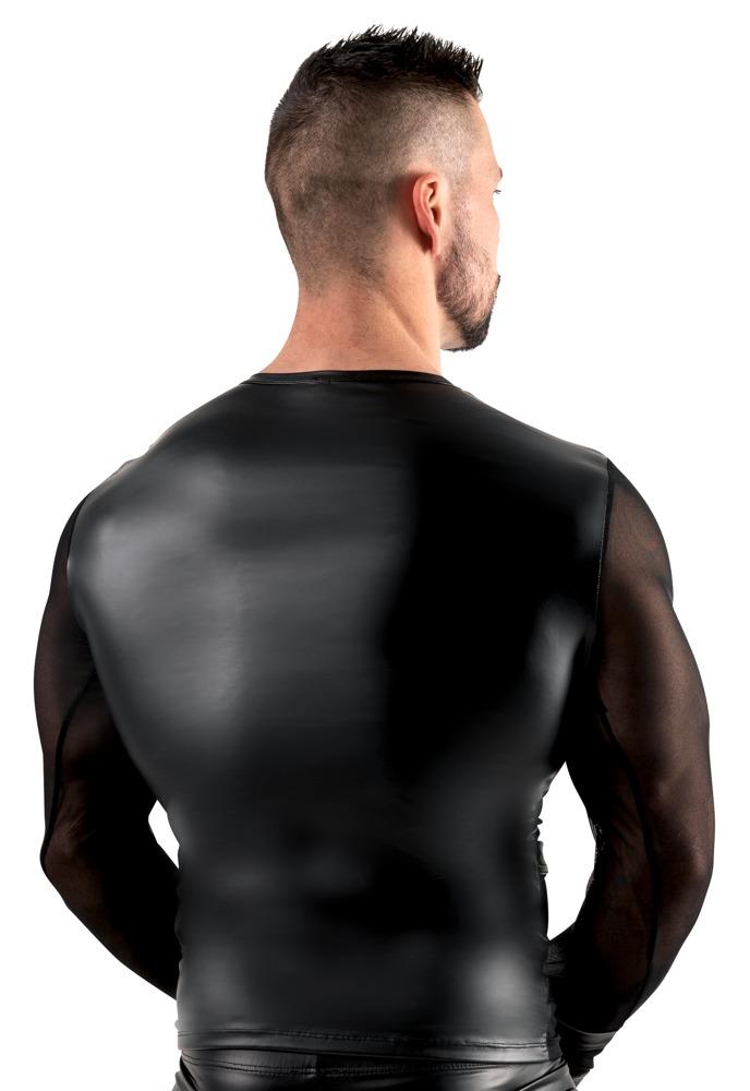 Langarm-Shirt aus Powernet und Mattlook