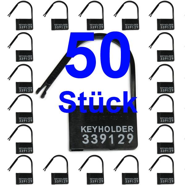 Einmalschlösser für Keuschheitskäfige und -gürtel KEYHOLDER schwarz - 50 Stück