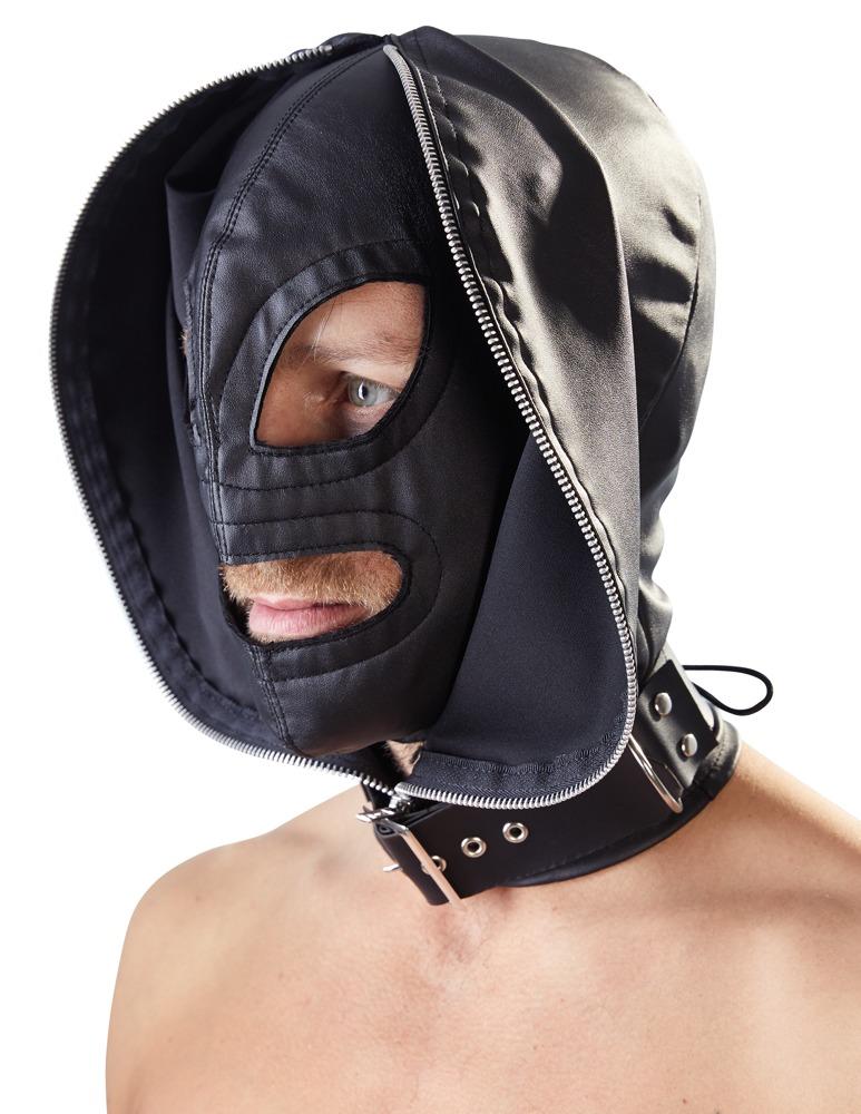 Doppelmaske aus Kunstleder