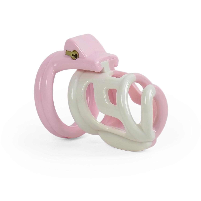 SISSY-Peniskäfig rosa-weiß