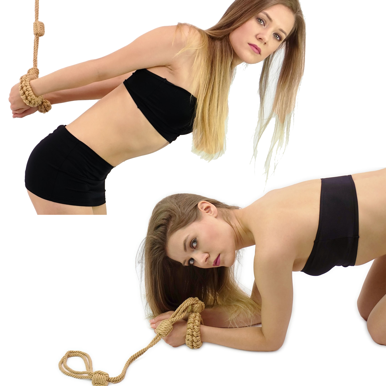 Rope Handfesseln mit Leine für Selfbondage