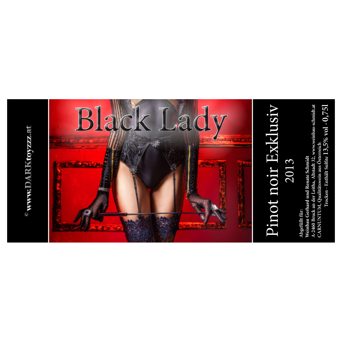 DARKtoyzzz-Weinetikett - Black Lady