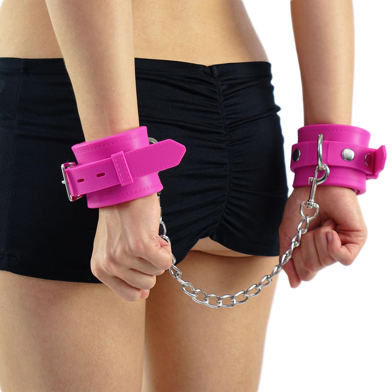 Silikon-Handfessel pink