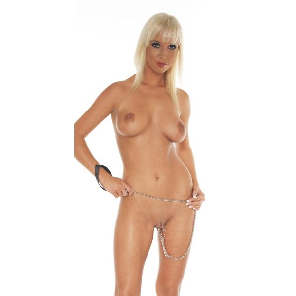 Brust- oder Schamlippenklammern mit Leine