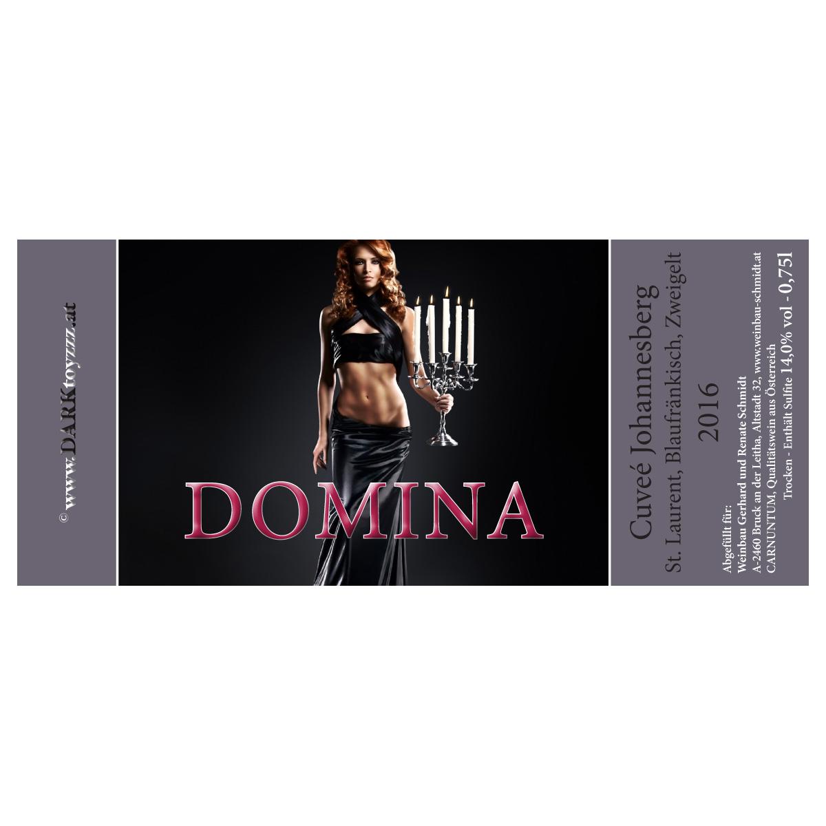 DARKtoyzzz-Weinetikett - Domina