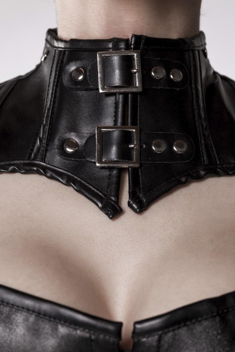 GREY VELVET - Corsage mit symmetrischem Schulterteil