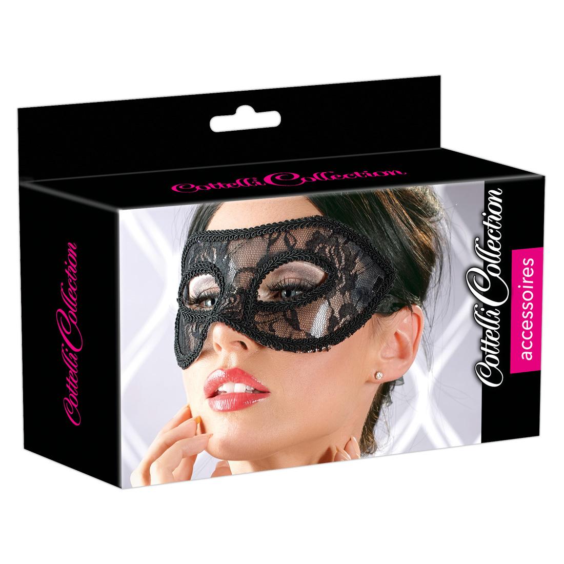 Augenmaske mit schwarzer Spitze
